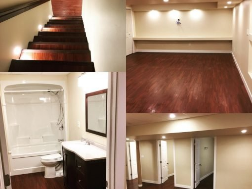 Basement Renovation Eagle View. Bathroom Renovation