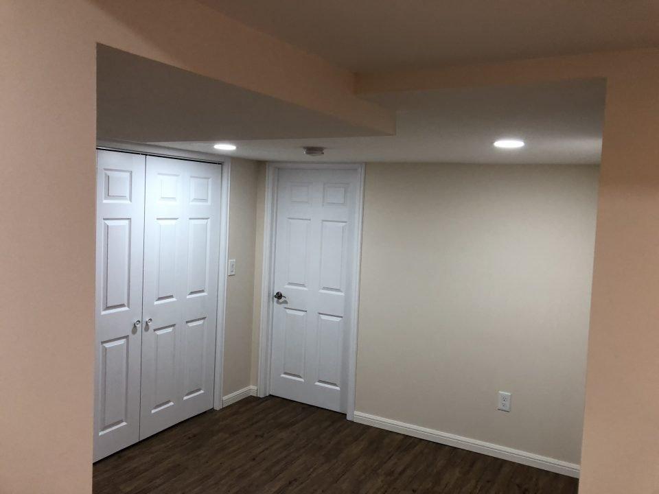 Basement renovation inWinnipeg