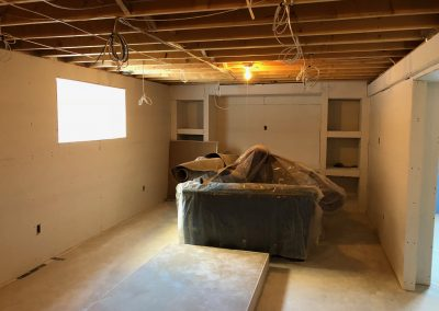 Basement renovation in Winnipeg