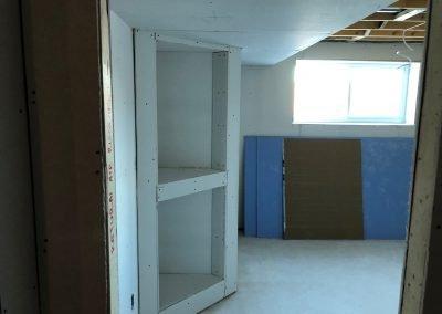 Basement renovation in Winnipeg