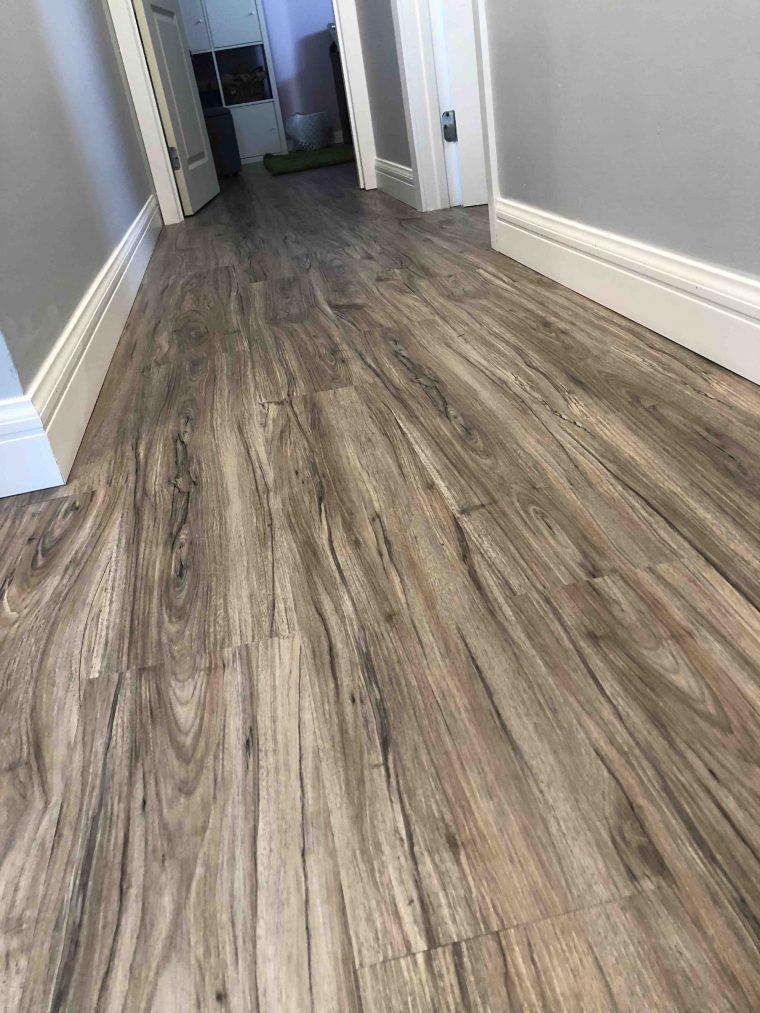 Luxury vinyl plank flooring. Installed model WS8821